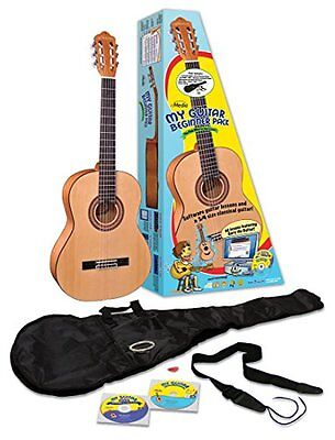 eMedia My Guitar Beginner Acoustic Guitar Pack for Kids, 3/4 Size, 34""