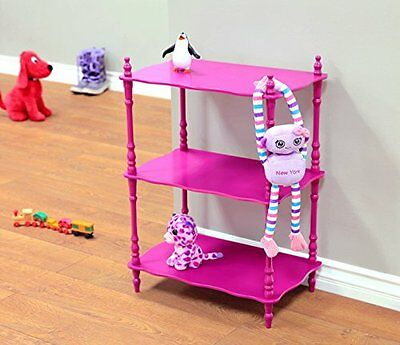Frenchi Home Furnishing Kid's 3-Tier Shelves, Purple