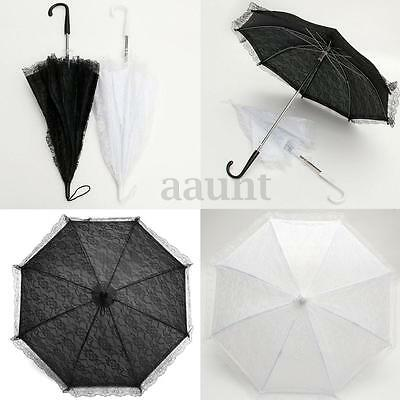 NEW Child Kids Flower Girl Parasol Lace Sun Umbrella Bridal Wedding Party Decor