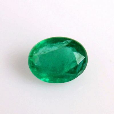 Beautiful Natural Green Emerald Oval Loose Gemstone Zambia for Ring with VIDEO