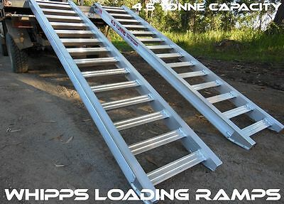 4.5 Tonne Capacity Machinery Loading Ramps 3 Metres Long x 400mm Track Width