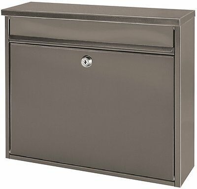 Wall Mounted Large Letter Mailbox Post Letter Box Steel Letterbox Postbox