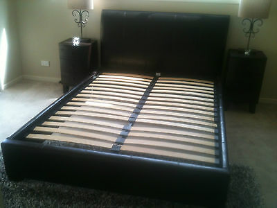 Queen bed frame and bedhead