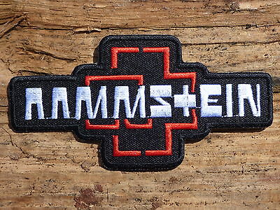 ECUSSON PATCH THERMOCOLLANT aufnaher toppa RAMMSTEIN groupe musique / 10.9CMX6CM