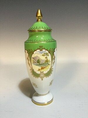 Coalport Lidded Cabinet Urn With Hand Painted Thirlmere Scene - Artist Signed