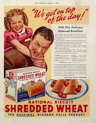 1939 National Biscuit Shredded Wheat Vintage Magazine Ad