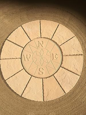 compass rotunda circle paving slabs stone patio, (FREE DEL NOTE EXCEPTIONS)
