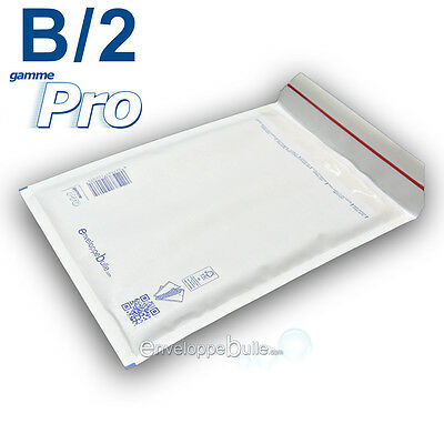 50 Enveloppes à bulles blanches gamme PRO taille B/2 format utile 110x215mm