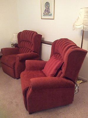 2 X Electric Riser Recliner Chairs Living Room Upholstered Mobility Aid