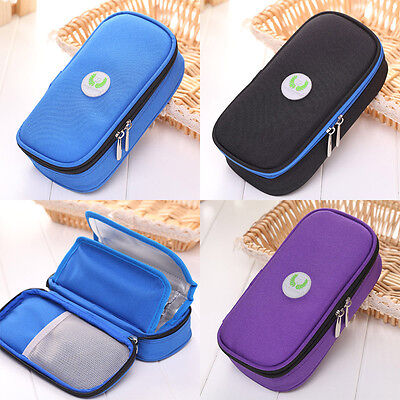 Portable Diabetic Insulin Ice Pack Cooler Bags Supply Punch Injector Wallet