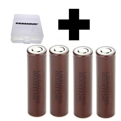 4x Genuine LG HG2 20a 3000mAh 3.7v IMR High Drain Rechargeable Batteries