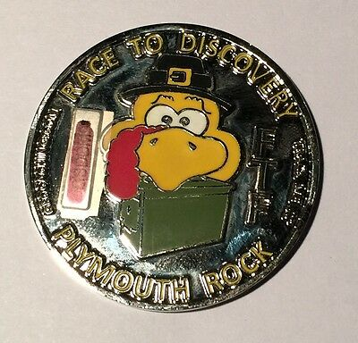 Plymoth Rock FTF Geocoin with Matching Pin - *UNACTIVATED*