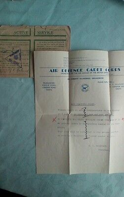 Air defence cadet corps correspondence