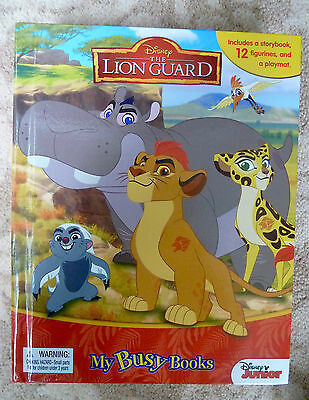 Disney The Lion Guard My Busy Books 12 Figurines, A PlayMat - New