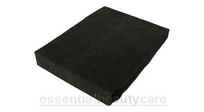massage table couch cover WITHOUT face hole in BLACK NO BREATHE HOLE