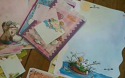 Lot papeterie enveloppes  cartes postales carnets sachets feuilles Diddl