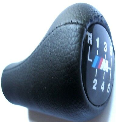 BMW 6-Speed M Leather Gear Knob, Black E39 E46 E90 E60 Power