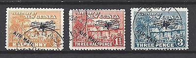 New Guinea 1931 SG 137, 139 and 141 very fine used Cat GBP29.00