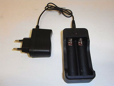 charger 18650 caricabatterie 2 slot presa italy