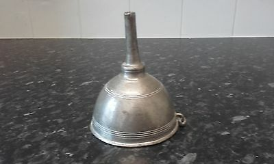 antique 1820s pewter wine funnel