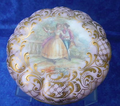 Beautiful Dresden Gilded Portrait Box, Hand Painted