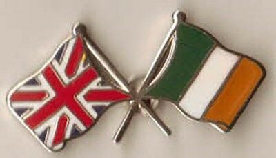 union jack  Flag & ireland  Flag Friendship lapel Pin Badge irish