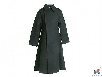 Russian Imperial Wwi Black Overcoat Model 1912, Police Or Navy, Replica