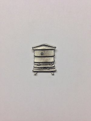 Bee Hive RS97 Made from Solid Fine English Pewter Pin Lapel badge
