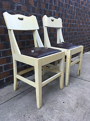 2 x Vintage Wooden Chairs