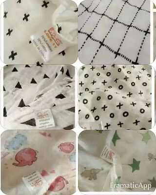 Triangle Design Baby Muslin Wrap 70% Bamboo + 30% Cotton