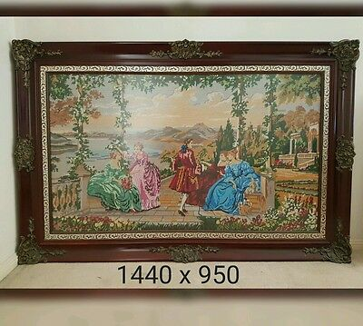 Tapestry French Scene Large