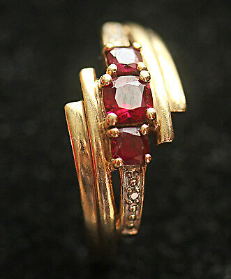 Genuine Real 9 Ct Solid Yellow Gold Women's Ring No Scrap