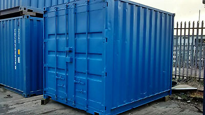 10 x 8 Blue Refurbished Shipping Container Unit