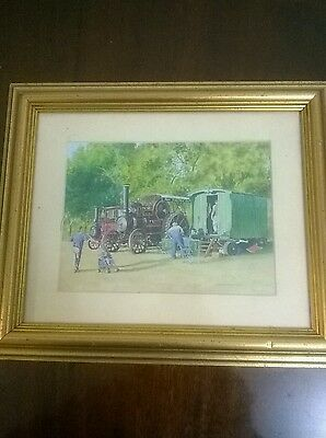 framed picture steam engine  by s.m.stonestreet,2007