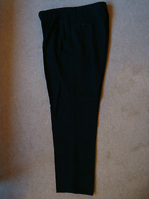 Vintage Italian Black 1950's Single Pleat Wool Trouser -NEW OLD- FREE UK POST