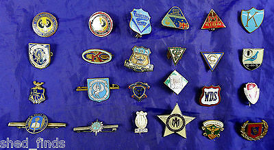 Old Enamel School, College & Misc Educational Badges. Many Unidentified (24).