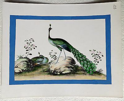 CINA (China): Very fine and old Chinese watercolor print painting - birds (3)
