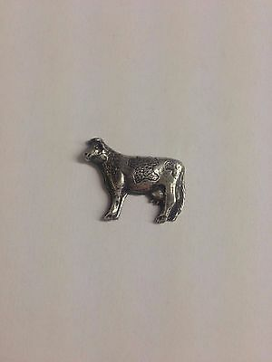 Cow RS163 Made from Solid Fine English Pewter Pin Lapel badge