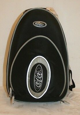 Black Gig Styrofoam Moulded Double Clarinet Carry Case Gig Bag