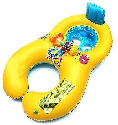 Inflatable Mother & Baby Swimming Pool Float Aid Raft Kid's Chair Seat Play Ring