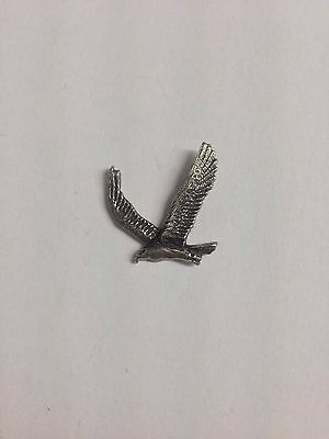 Golden Eagle RS188 Made from Solid Fine English Pewter Pin Lapel badge