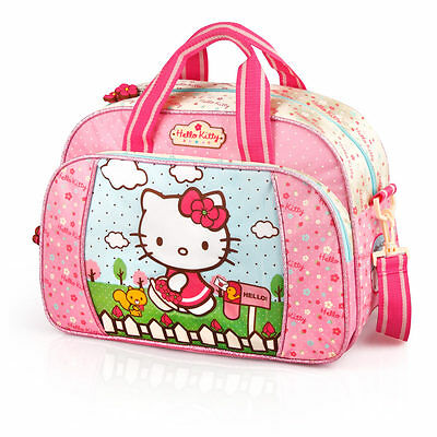 Hello Kitty Pink Sports Travel School Speepover Weekend Holiday Bag Holdall
