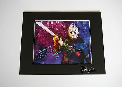 Friday the 13th Part 6 11x14 Print Signed by CJ Graham Jason Lives Voorhees Mask