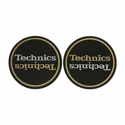 Technics Limited Edition Champion Slipmats (pair, black gold silver)
