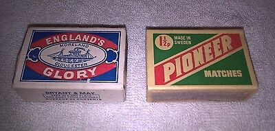 Two Vintage Match Boxes (empty) Englands Glory and Pioneer