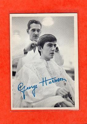 The Beatles US Original 1960's 1st Series Topps B & W Card # 53 George Harrison
