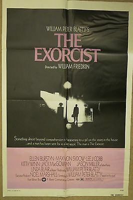 The Exorcist 1974 Original Vintage Classic US 1 One Sheet Poster RARE