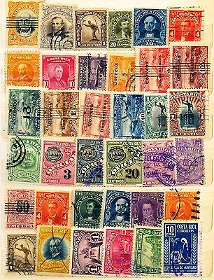 Costa Rica - Set With 66 Seals With Different Cancellation - No Replay