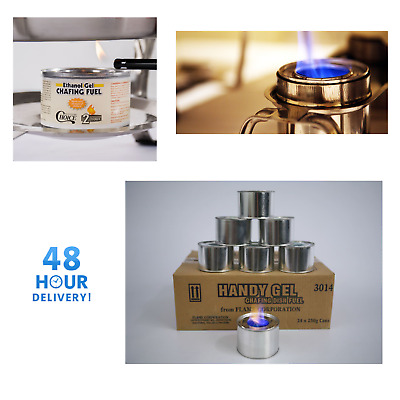 Box 36 Tins 2 Hours Burn Chafing Dish Gel Fuel - For Chafing Sets Vat Invoice
