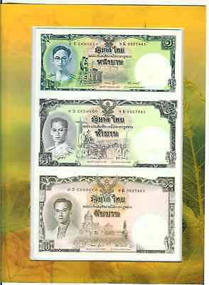 Thailand 16 Baht (1 5 10) Uncut Commemorative 2007 Original Folder Unc P 117